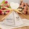 50 шт./компл.  романтическая треугольная коробка конфет  свадебные сувениры  вечерние принадлежности  бумажные подарочные коробки с благодар...