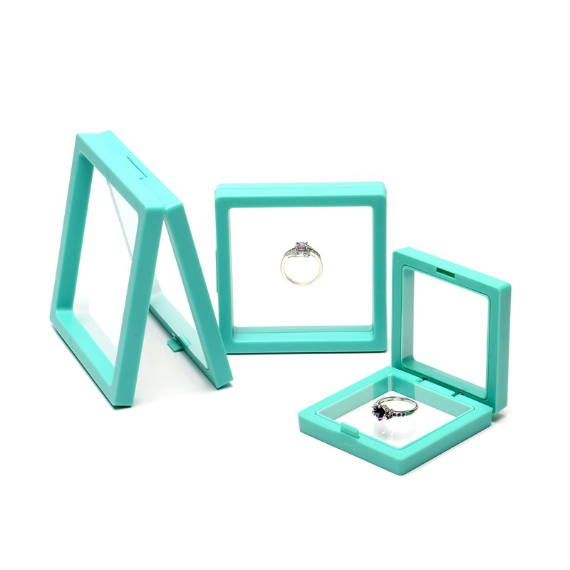Showing Retail Colorful Box For Making Up The Balance Of The Transparent Jewelry Display Box Suspended Floating Holder Case