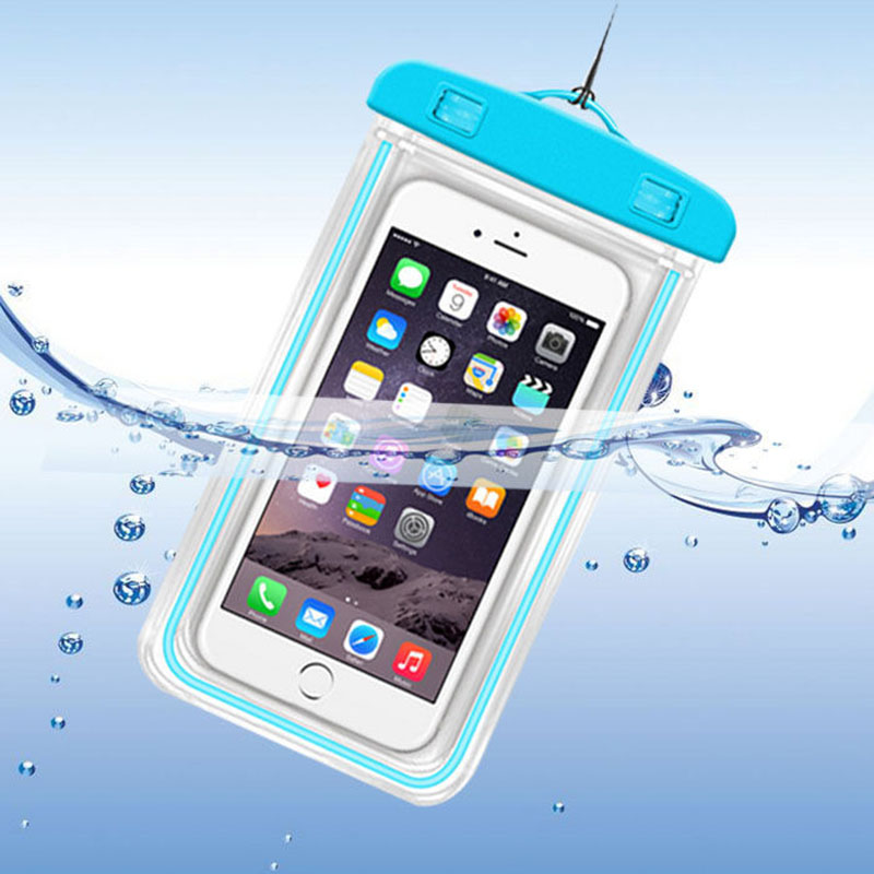 Summer Beach Bags Waterproof Phone Pouch Drift Diving Swimming Bags Luminous Dry Bag Phone Case Cover For 3.5-6 Inch Phone