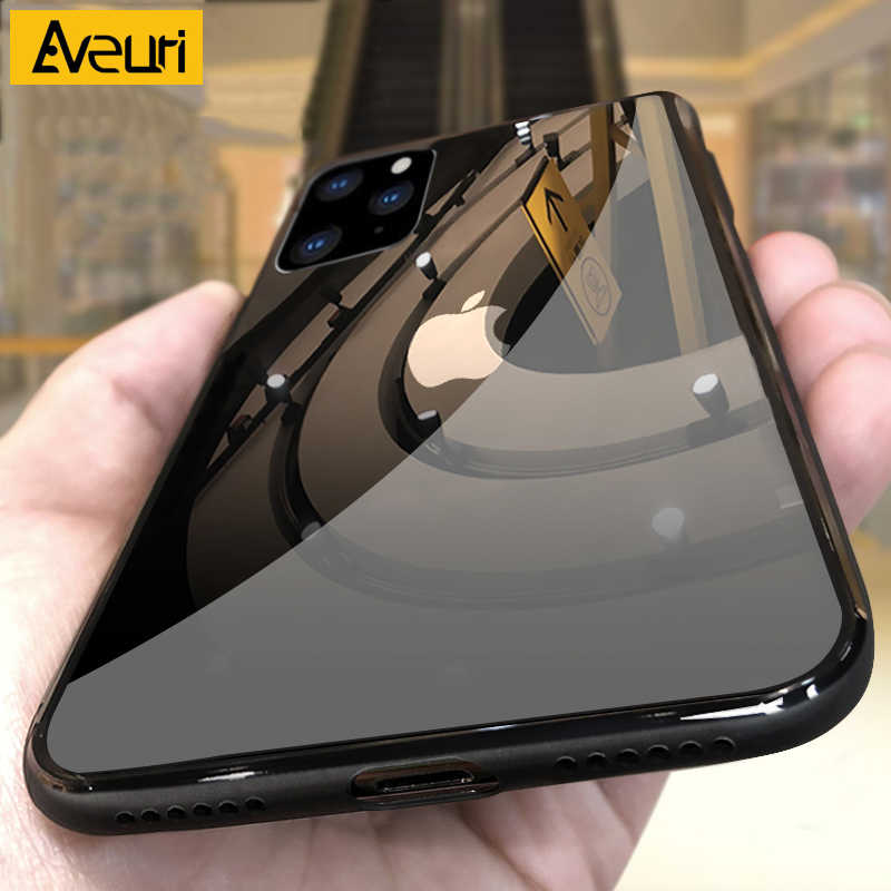 For iPhone 11 Pro Max 2019 iphone11 Şeffaf cam i telefon kılıfı için iPhone 11 Pro Max iPhone X XR XS Max temperli kapak iPhone kılıfları 6 s 6 s 7 8 artı Coque
