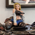 Dragon Ball GK Cool Beautiful Kind Girl Blonde Blue-Eyed Android 18 Lazuli Sexy Statue Action Figure Collection Model Toys C21