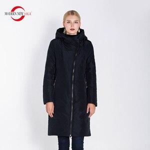 Image 1 - מודרני חדש סאגת 2020 סתיו נשים מעיל חם ארוך מעיל סלעית חורף Parka נשים גבירותיי חורף מעיל מוצק רוכסן אישה מעיל