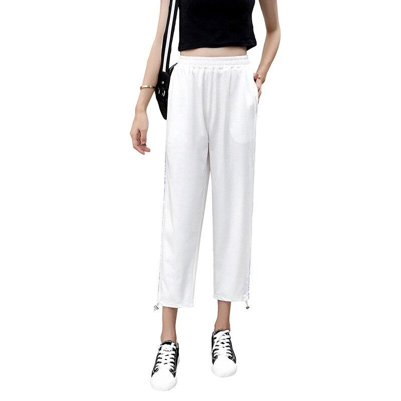 Summer New Products Athletic   Pants   Women's Summer Loose Casual Beam Leg Skinny   Pants   Super Fire   Capri   Harem   Pants   JR2134