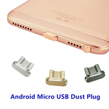 Metal Micro USB Charging Port Dust Plug Android Mobile Phone 3.5mm Headset Stopper Retrieve Card Pin