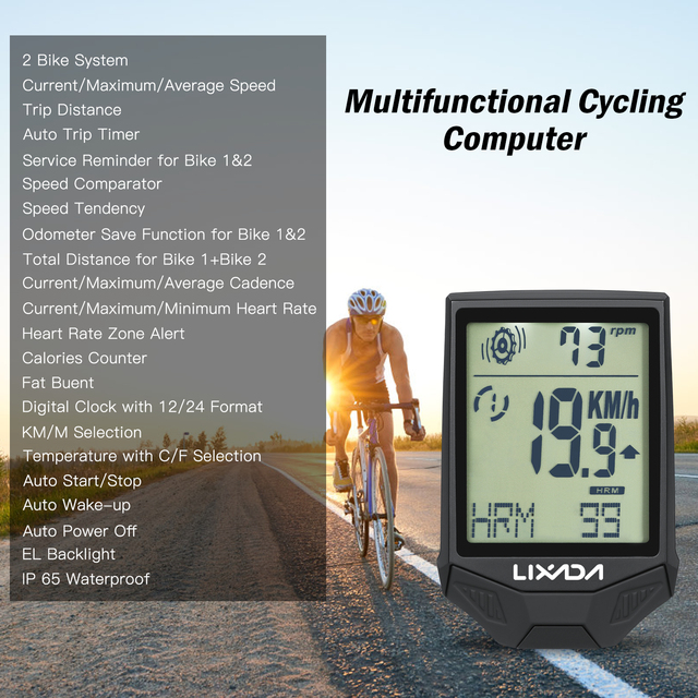 Lixada 3-in-1 Bike Computer Cycling Computers Bicycle Speedometer 5