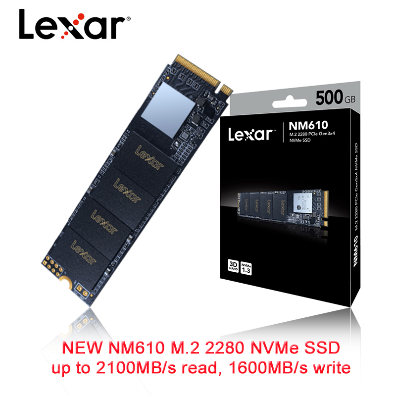Lexar LNM610 SSD 250GB 500GB 1TB M.2 2280 NVMe PCIe Gen3.0x4 Internal Solid State Drive Hard Disk For Desktop Laptop NoteBook PC