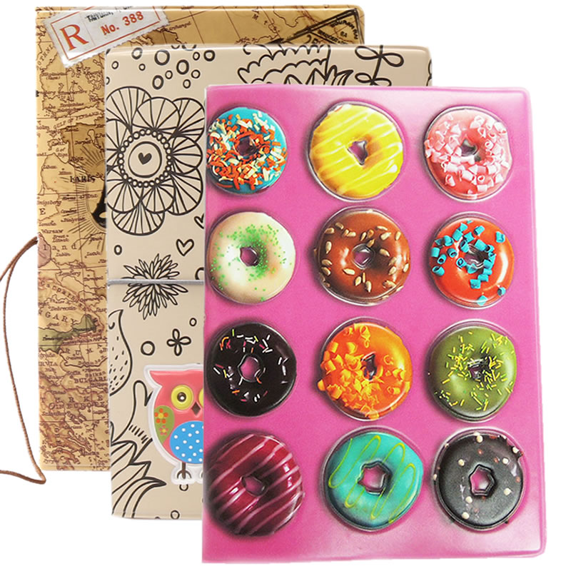 Creative Macaron Cake Passport Cover Wallets Travel Accessories Women PU Leather ID Address Holder Portable Boarding Card Case