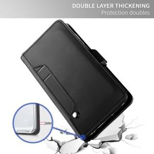Image 5 - עבור OnePlus 8 פרו מקרה עור מפוצל Flip Stand ארנק מלא גוף כיס מגנט אבזם מראה כיסוי עבור Oneplus 8 מקרה כרטיס חריצים