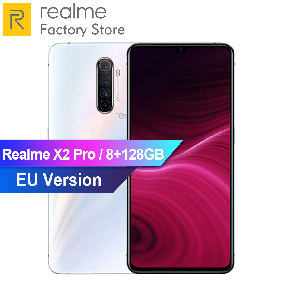 "EU Version OPPO Realme X2 Pro 6.5"" Snapdragon 855 Plus Octa Core 8GB RAM 128GB ROM NFC 64MP Face ID 4000mAh Mobile PhoneCellphones   -"