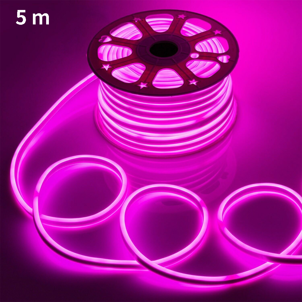 5M DIY Waterdichte Decoratieve Licht Regenboog Buis LED Strip Flexibele Neon Strip Hotel Bar Billboard Plafond Decoratie Licht Strip