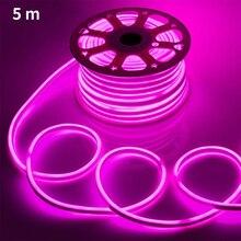 5M DIY Waterproof Decorative Light Rainbow Tube LED Strip Fl
