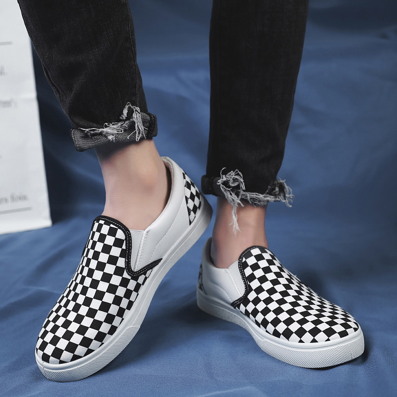 2019 Spring Summer Tide Shoes Men Korean-style Athletic Shoes Mixed Colors Slip-on Loafers Breathable Casual Board Shoes