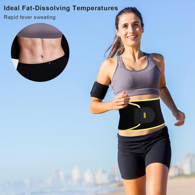 OUTAD Women Waist Trimmer Belt Neoprene Waist Sweat Band for Slimmer Water Weight Loss Mobile Sauna Belts Strengthen Tummy 2