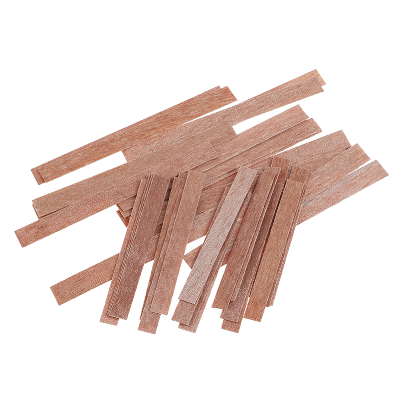 20Pcs 70/100mm Solid Wooden Candles Core Wicks For Candles Soy Or Palm Wax Candle Making Supplies DIY Candle Making Accessory