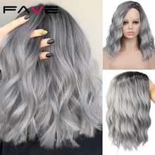 Парики fave из натуральных волнистых волос термостойкие синтетические