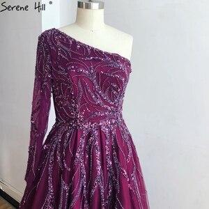 Image 5 - Dubai Thiết Kế Rượu Vang Đỏ Chữ A Váy Đầm Dạ Một Vai Gợi Cảm Cao Cấp Form Đầm Suông 2020 Thanh Thoát Đồi LA60988