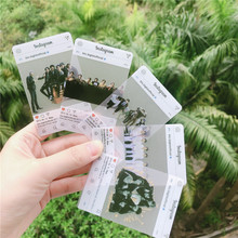 7-8 Pcs Bangtan Boys Four Types Transparent Waterproof Plastic Matte Creative Gift Fan