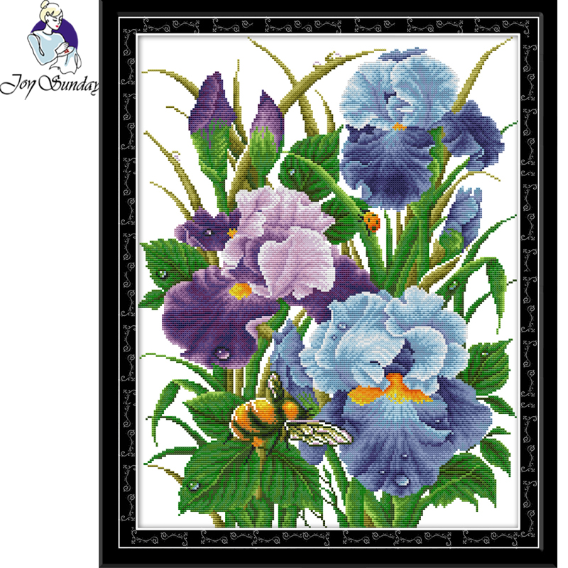 Joy Sunday,Flower,cross stitch embroidery,Cartoon cross stitch pattern,cross stitch needlework,Flower pattern cross stitch kit image