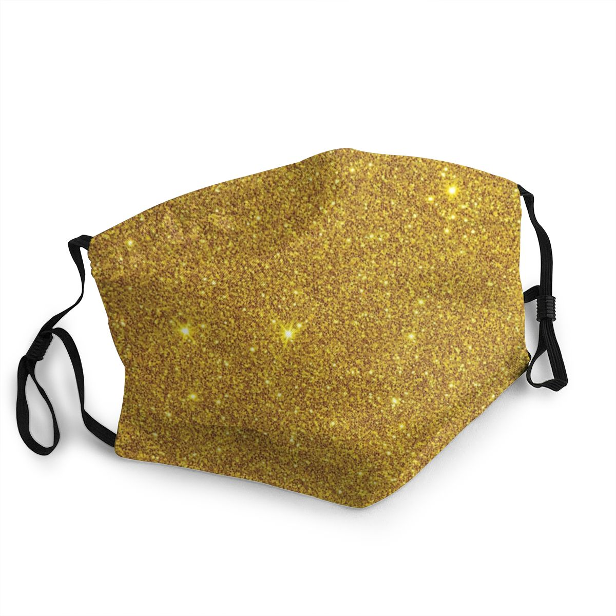 Sparkling Gold Non-Disposable Mouth Face Mask Printed Anti Haze Dust Mask Protection Cover Respirator Mouth Muffle