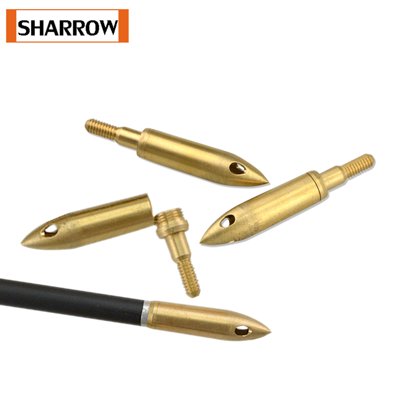 6/12pcs Archery 126gr Whistle Broadhead Copper Arrowhead Tips Arrow Points Outdoor Shooting Hunting Sport Accessories