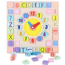 Красочные Обучающие часы головоломка игрушка для раннего развития