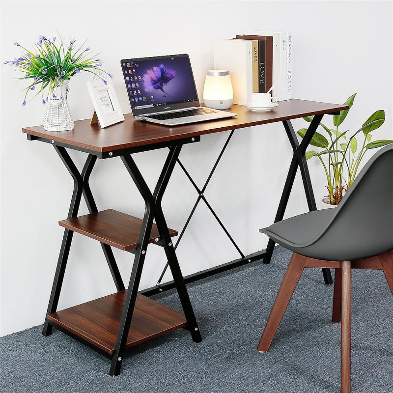 Largesize Desktop Office Laptop Stand Adjustable Bedside Desk Computer Study coffee Table Storage Organizer Study Bookshelf HWC