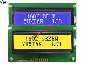 1602C lcd display green module screen 84*44mm HD44780 BC1602H 15PIN LEDA 16PIN LEDK 1602C