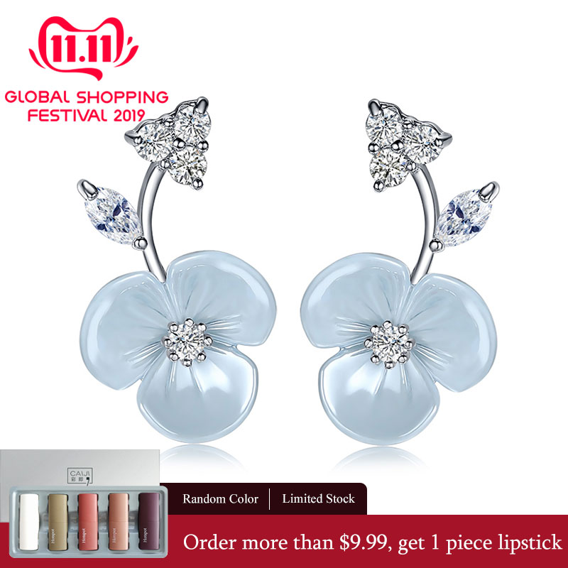 UMODE Cute Flower Studs Earrings for Women CZ Female Trendy Modern Wedding Jewelry Accessories pendientes mujer moda UE0371