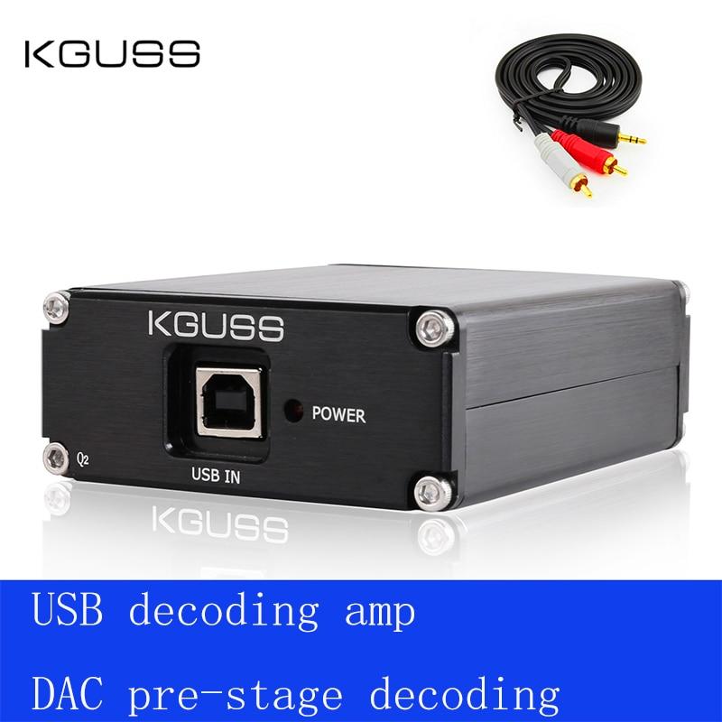 2020 New KGUSS Q2 Breeze Audio ESS ES9018K2M   AD823   SA9023 USB DAC Decoder External Sound Card Amplifier Beyond ES9023 DAC
