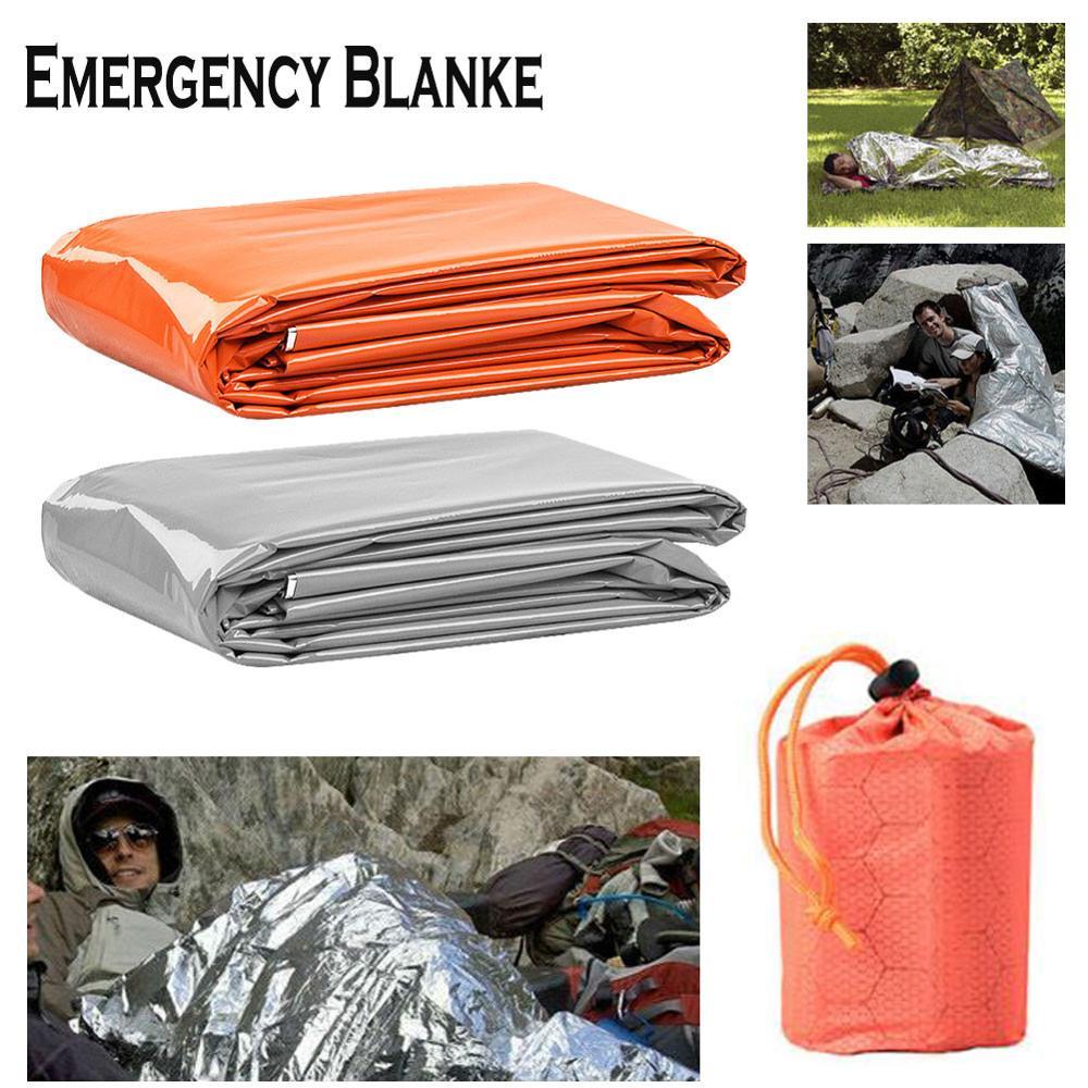 Outdoor Life Emergency Sleeping Bag Portable Thermal KeepWarm Waterproof Mylar First Aid Emergency Blanket Camping Survival Gear