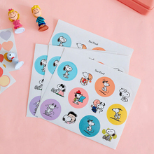 Ins Cartoon Rogue Dog Round Cute Stickers Scrapbook Creative Decorative Notebook Diary Label Sealing Japanese Sticker Stationery