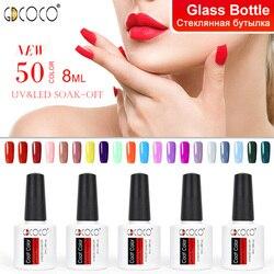 70312 # дешевый долговечный Гель-лак для ногтей Canni поставка 50 цветов GDCOCO замочить от УФ светодиодный Гель-лак покрытие Цветной Гель-лак