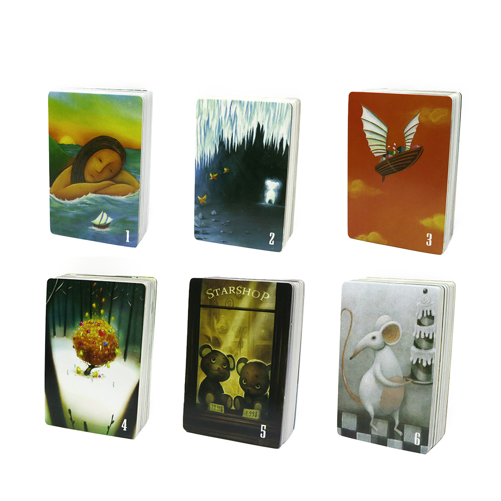 2020 Dixit Cards Game English & Russian Rules Education Game  For Family Party Wood Bunny Toys Kids Fun Board Game