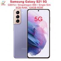 "Samsung Galaxy S21 5G G991U G991U1 6.2"" ROM 128GB RAM 8GB Snapdragon 888 NFC Triple Rear Camera Octa Core Original Cell Phone 1"