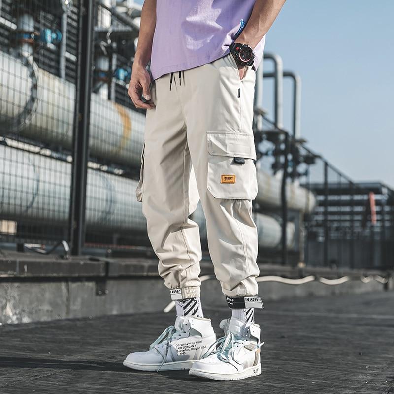 LAPPSTER Mens Streetwear Joggers Pants 2020 Mens Hip Hop Black Track Pants Male Korean Fashions Harajuku Pockets Sweatpants 5XL