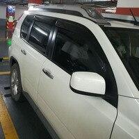 Para 2007 2012 nissan x trail janela ventilação de ar viseira sun sombra toldos abrigos guardas janela escudo capa|Toldos e abrigos| |  -
