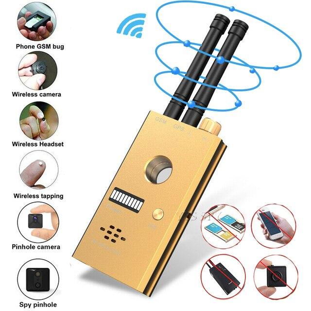 Bug Detector RF Anti-Spy Wireless Signal Hidden Camera Pinhole Laser Lens GSM GPS Tracker Device Finder Portable Alarm Scanner