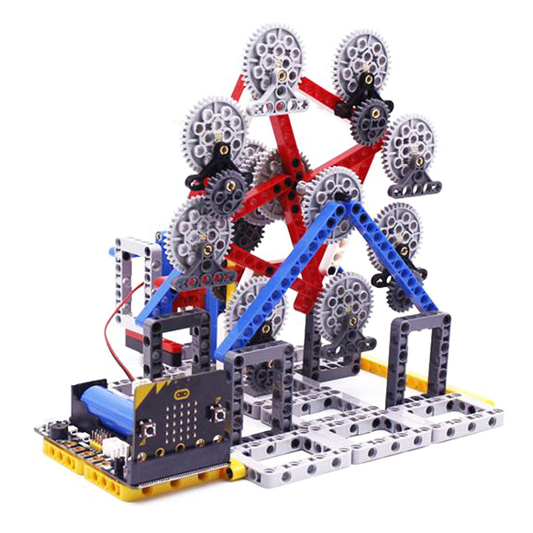 With Micro:Bit Programmable Toy Building Block DIY Smart Ferris Wheel Kit Programable Toys For Men Kids Gift - Random Color