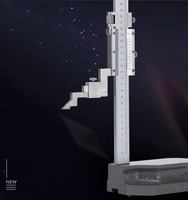 Cursor medidor de altura 200/300mm aço inoxidável mecânica medidor de altura escala a laser vernier caliper altímetro ferramenta medição