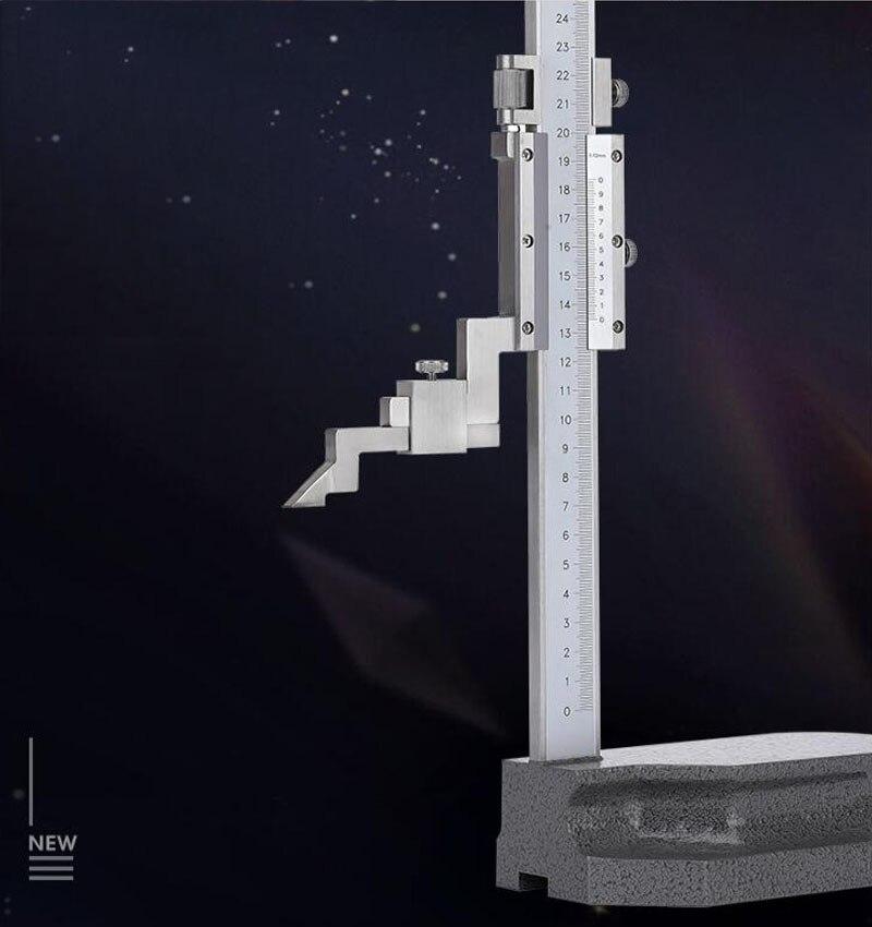 Jauge de hauteur du curseur 200/300mm en acier inoxydable jauge de hauteur mécanique échelle Laser pied à coulisse altimètre outil de mesure