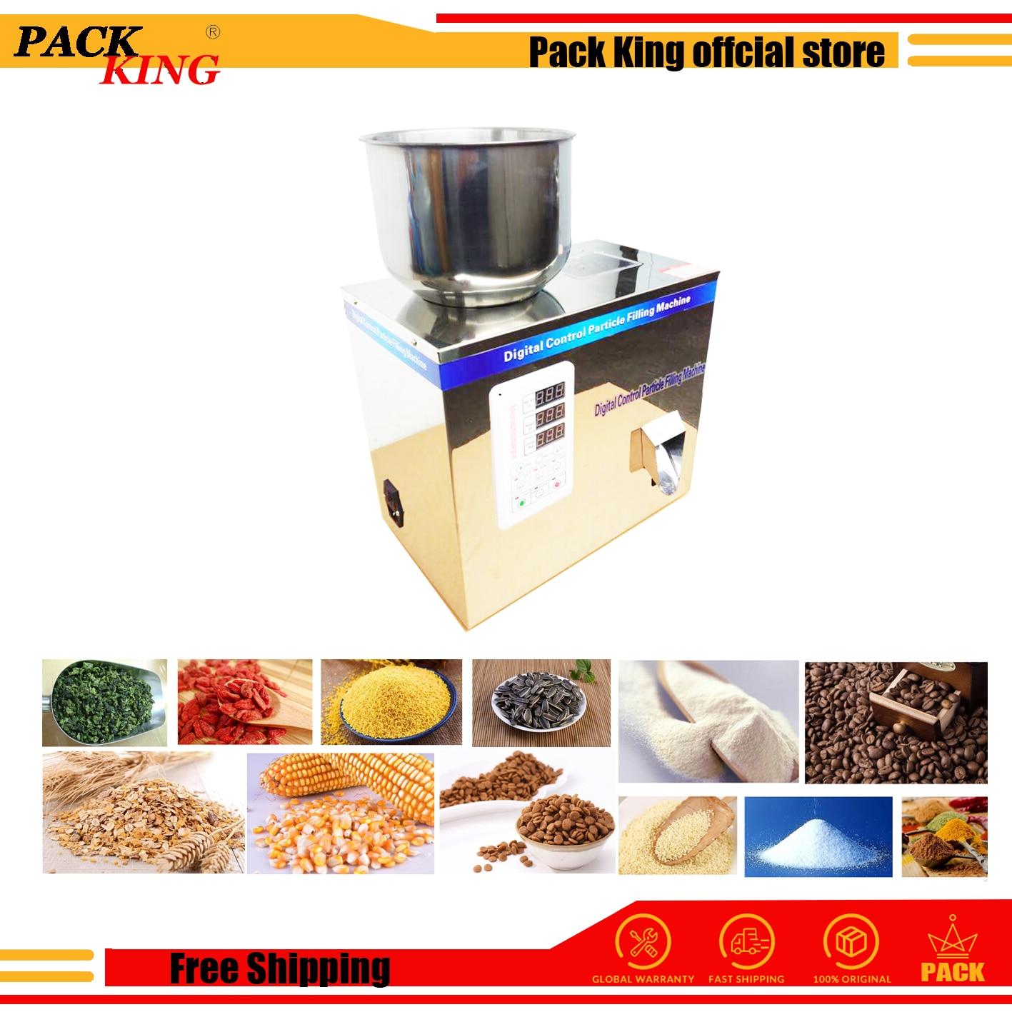 25g Tea Leaf Corn Grain Medicine Seed Salt Rice Weighing Filling Machine Niblet Sesame Racking Machine Powder Capsules Filler