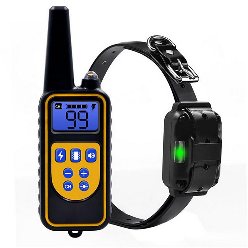 800M Pet Dog Training Collar Eectric Shock Collar For Dogs IP7 Diving Waterproof Remote Control Dog Device Charging LCD Display