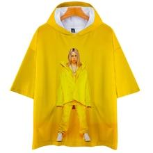 Billie Eilish Printed Hooded Short Sleeve 3D T Shirt SF