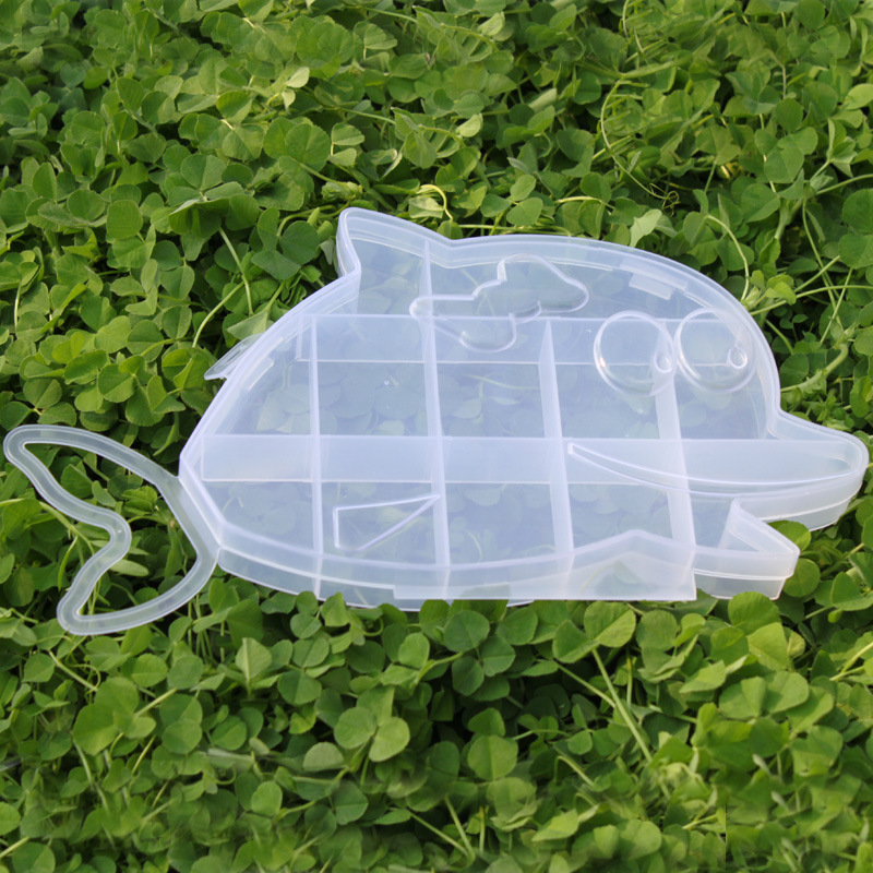 Dolphin plastic box Transparent storage PP Rubber ring special