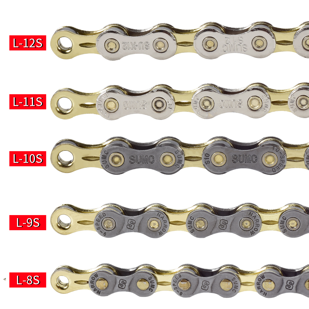 Mountain Bike Road Bicycle Steel 9 10 Speed Silver Chain Hollow 116 Links B184
