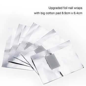 1000 pcs Aluminium Foil Remover Wraps Nail Art Soak Off Acrylic Gel Nail Polish Remover For Manicure Pedicure Gel Tools