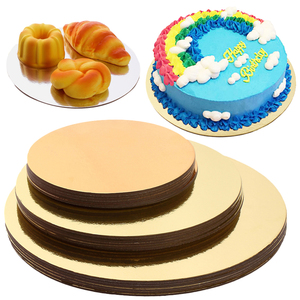 18 placas redondas do bolo dos pces ajustaram a bandeja descartável da sobremesa do queque do papel da base do cake 6 polegadas, 8 polegadas, e 10 polegadas 6 de cada
