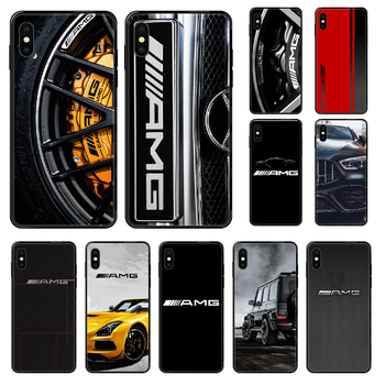 Mercedes Amges Luxury Car Phone case For iphone 4 4s 5 5S SE 5C 6 6S 7 8 plus X XS XR 11 PRO MAX 2020 black trend Etui painting image
