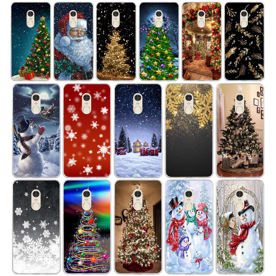 325FG Christmas holiday Tree New Year Soft Silicone Tpu Cover phone Case for xiaomi redmi note 4A 4X 6 Pro 6A