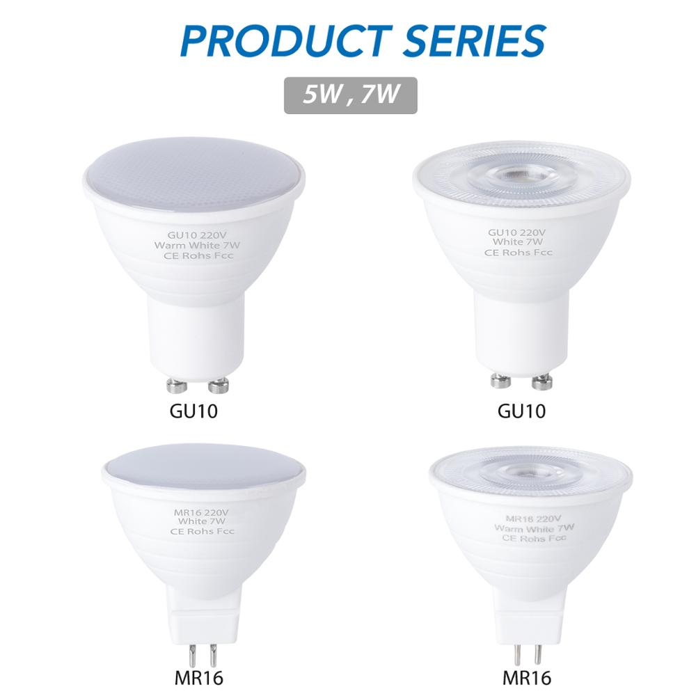 WENNI E27 LED Spot Light GU10 LED Bulb 5W E14 LED Lamp 220V Spotlight MR16 7W Lampada GU5.3 Corn Light Bulb Gu 10 Ampoule 2835
